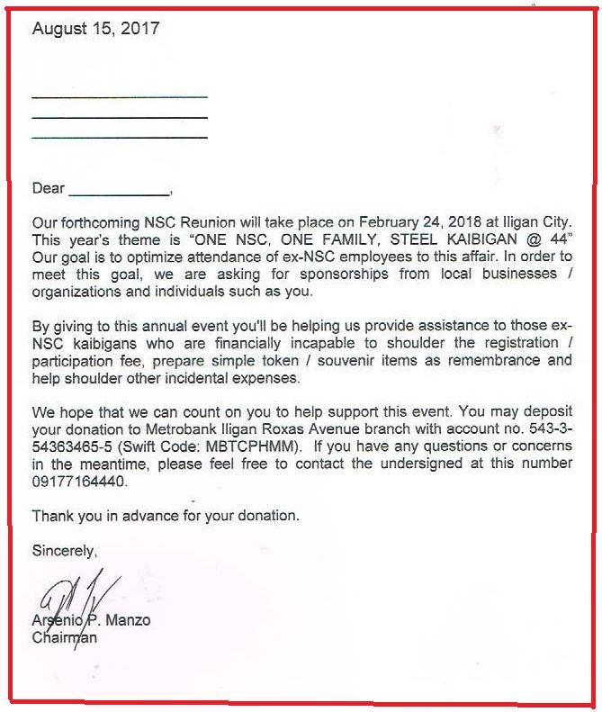 Solicitation letter 2018 nsc reunion iligan nsc digest solicitation letter 2018 nsc reunion iligan altavistaventures Images